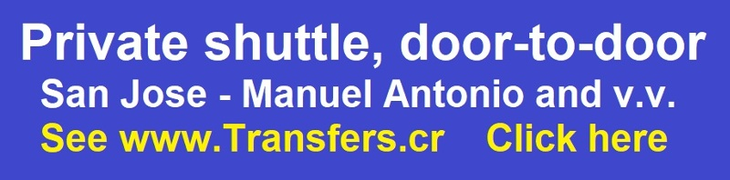 Private shuttle from  San Jose to Manuel Antonio